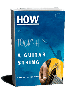 how to touch a guitar string