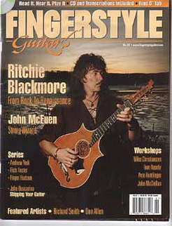 Fingerstyle guitar magazine with Jamie Andreas