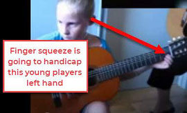 finger squeeze on guitar