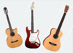 3 styles of guitar